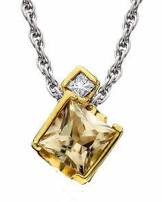 Zultanite Pendant with Chain, Yellow Gold  http://zultanite.org/shop