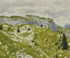 Hans Berger (Swiss, En montagne [In the Mountains], Oil on canvas, 60 x 73 cm.