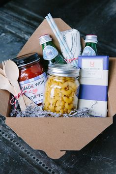 thoughtful new parent dinner gift basket
