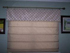 Roman Shade - sewed pockets 10 inches apart to hold dowels - used 3 sets of string to operate.  Works great.