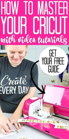 Struggling with your Cricut? Learn how to use your machine for free! Learn how to use your Cricut Machine with these video tutorials! From the Cricut Maker to the Cricut Explore, you will learn how to design your projects in Cricut Design Space and more! Cricut Craft Room, Cricut Vinyl, Cricut Air, Cricut Explore Projects, Cricut Explore Air, Circuit Machine, Free Svg, Cricut Help, How To Use Cricut