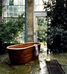 Care for a soak? This teak bathtub shows the versatility of this luxury hardwood.
