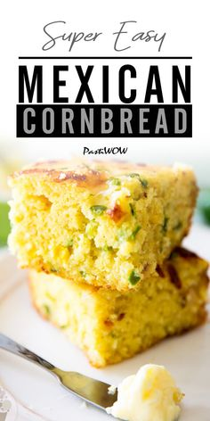 This Super Easy Mexican Cornbread recipe is one of the best cornbread's I've ever had! The cornbread mix is filled with jalapeños and cheese making this Easy Mexican Cornbread, Jiffy Cornbread Recipes, Cornbread Mix, Jalepeno Cornbread Jiffy, Mexican Bread, Fresh Corn Bread Recipe, Jalapeno Cornbread Recipe Easy, Mexican Corn Bread Recipe, Corn Bread Jiffy