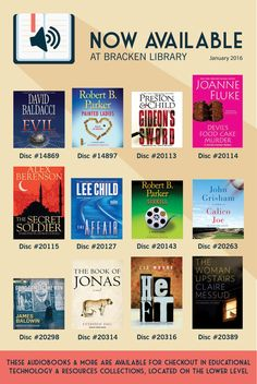 Audiobooks that are now available at Bracken Library | January 2016