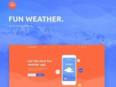 Fun Weather is a free PSD landing page design template ideal for showcasing weather apps designed and released by Elina Chanieva. Ecommerce Template, Psd Templates, Page Template, Website Template, Web Design Packages, Professional Powerpoint Templates, Ecommerce Website Design, Website Design Company, Free Business Cards