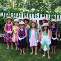 Girls Tea Party Floppy Hat