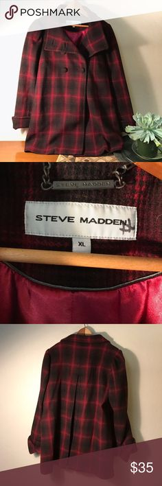 (Steve Madden Coat) Adorable! Love this coat! Only worn a handful of times, in good condition! Sleeves hit mid forearm. Steve Madden Jackets & Coats