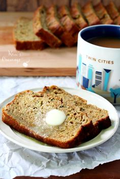 Uber-moist on the inside and slightly crunchy out the outside- this zucchini banana bread with protein is so scrumptious!