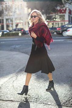 a-black-michael-kors-belted-midi-dress-dune-london-prestonn-ankle-boots-marc-jacobs-red-blanket-scarf-work-wear-fashion-style-blog-san-francisco-mary-orton