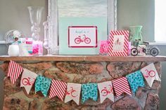 Bicycle party theme diy