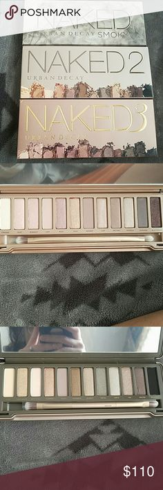 Naked Palettes These are brand new 100% authentic, never swatched, the brushes haven't even been taken out of their sleeves. Naked 2 comes with the sample of the eye primer. Open to offers need these gone asap. I'm willing to separate the pallets. Urban Decay Makeup Eyeshadow