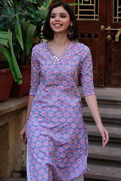 Blouse designs - I believe in simplicity Neck Designs For Suits, Dress Neck Designs, Blouse Designs, Kurta Designs Women, Salwar Designs, Kurtha Designs, Kurta Patterns, Salwar Pattern, Kurti Embroidery Design