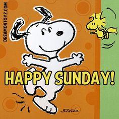 Happy Sunday!   --Peanuts Gang/Snoopy & Woodstock