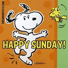 Happy Sunday!   --Peanuts Gang/Snoopy & Woodstock