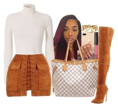 """Walking Latte Macchiato"" by melaninprincess-16 ❤ liked on Polyvore featuring A.L.C., Gucci, NARS Cosmetics, Louis Vuitton and Neiman Marcus"