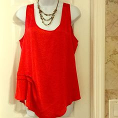 Apostrophe. Red tank top 11 100% polyester red tank top Apostrophe Tops Tank Tops