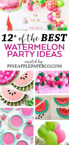 Watermelon Party Ideas – Watermelon Decorations – Pineapple Paper Co. Watermelon Party Ideas to throw the PERFECT Watermelon Party this Summer including decorations, favors, food ideas, and more! List curated by Pineapple Paper Co. 1st Birthday Girls, First Birthday Parties, First Birthdays, Birthday Ideas, Water Birthday, Half Birthday, Summer Birthday, Watermelon Decor, Watermelon Baby
