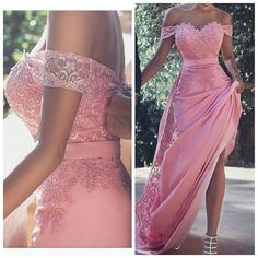 Candy Pink Lace Evening Gowns 2019 Off-the-Shoulder Long A-Line Prom Dresses on Luulla Pretty Quinceanera Dresses, A Line Prom Dresses, Bridal Dresses, Girls Dresses, Bridesmaid Dresses, Formal Dresses, Stunning Wedding Dresses, Beautiful Gowns, Off Shoulder Bridesmaid Dress