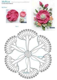 Crochet Flowers Patterns Crochet pansy ♥LCF-MRS♥ with diagram --- Intrecci Incantati: fiore Panzè all'uncinetto - Salvabrani Crochet Diagram, Crochet Chart, Crochet Motif, Diy Crochet, Crochet Pillow, Thread Crochet, Crochet Flower Tutorial, Crochet Flower Patterns, Crochet Flowers