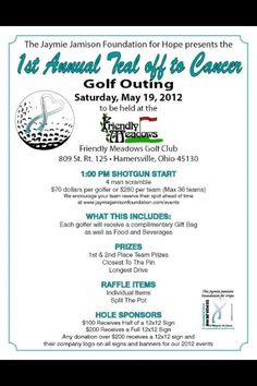 Free registration form template golf tournament registration jaymie jamison golf outing 2012 thank you to sponsors and participates maxwellsz