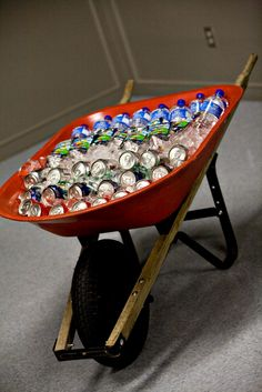 Drink holder.......... I don't know what kind of parties you have.  But my friends would so knock this over...........