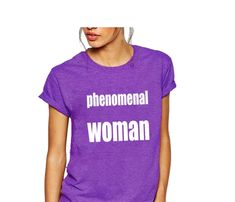Items similar to phenomenal woman shirt on Etsy Feminist Shirt, Woman Shirt, Diy Clothes, Trending Outfits, Tee Shirts, Etsy, Queen, Tops, Fashion