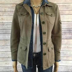J CREW JACKET 💥J Crew jacket... Rustic olive brown with front pockets, a pocket on the left sleeve and buckles on the sides that really make this jacket super cute. No spots on it, it has been well taken care of.  😘💕excellent condition (boots in 1st picture 4 -sale on my site, and hat too)💥☹🌸 J. Crew Jackets & Coats Utility Jackets