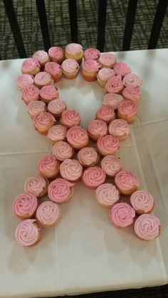 Breast cancer cupcake ribbon