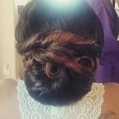 Updos for African American  Updos for Black Women Nigerian Wedding Hair Wedding hairstyles  styled by @lovdiv84