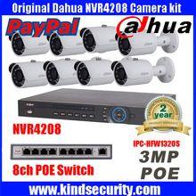 Dahua 8CH kamerový systém NVR4208 8 Ch POE NVR 1080P Video ourput 8ks 3 mp poveternostným CCTV IP kamery IPC-HFW1320S Security System (Čína (pevninská časť))