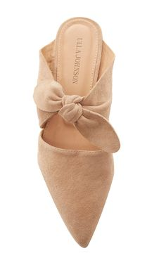 Spring 2018 Suede Lilo Babouche in Neutral by Ulla Johnson,
