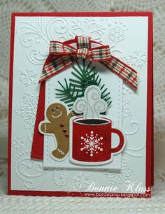 Stamping with Klass: Coffee Break with Merry Monday scentsational season Stamped Christmas Cards, Christmas Card Crafts, Homemade Christmas Cards, Christmas Cards To Make, Xmas Cards, Homemade Cards, Handmade Christmas, Holiday Cards, Christmas Tree