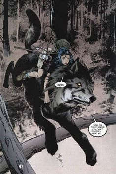 Snow and Bigby Wolf. Fables