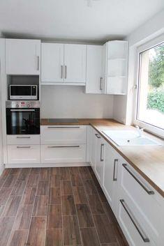 Home Decor Kitchen, Home Decor Bedroom, Kitchen Interior, Home Interior Design, Interior Decorating, Narrow Kitchen, Kitchen Dining, Kitchen Cabinets, Dream Home Design