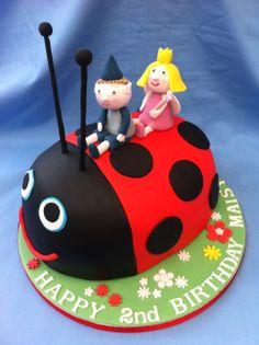 Ben & Holly cake Lion Birthday, Thomas Birthday, Girl 2nd Birthday, Baby Birthday Cakes, Ben And Holly Party Ideas, Ben And Holly Cake, Ben E Holly, Ladybug Cakes, Little Pony Cake
