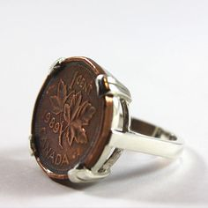 A coin ring with a penny minted in the year of your choice from Coin Coin Design & Co. in Halifax