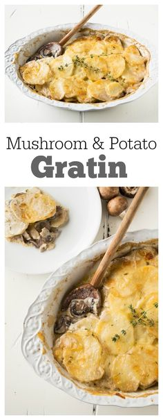 Mushroom and Potato Gratin Recipe : lovely recipe for a Christmas Eve or Christmas Day dinner