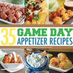 35 Game Day Appetizer Recipes at artsyfartsymama.com #appetizer #recipes #SuperBowl