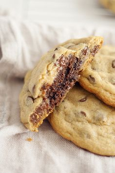 brownie stuffed chocolate chip cookies - Heather's French Press