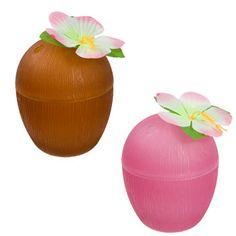 Bulk Plastic Luau Coconut-Shaped Cups, 13 oz. at DollarTree.com