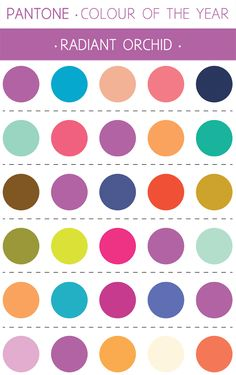 Rosie Simons Graphic and Surface Design: Colour of the Year: Radiant Orchid - Palettes