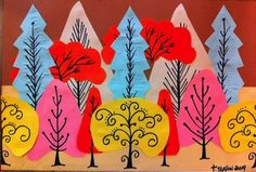 Construction Paper Tree Art - Things to Make and Do, Crafts and ...
