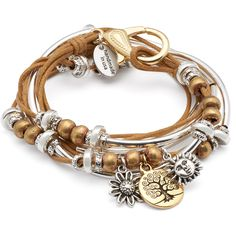 Lizzy James Boho w/ Gold Tree of Life Charm Trio - Golden Cotton Cord... ($125) ❤ liked on Polyvore featuring jewelry, pendants, bohemian style jewelry, yellow gold charms, boho chic jewelry, bohemian jewellery and golden jewellery