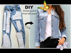 Diy Clothes Jeans, Diy Clothes Refashion, Sewing Clothes, Trash To Couture, Komplette Outfits, Kids Outfits, Jean Diy, T-shirt Rock, Named Clothing