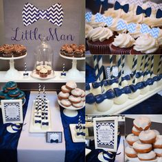 |Our Little Man Baby Shower | www.cwdistinctivedesigns.com | #desserttables #firstbirthday #littleman