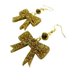 Bow Down Acrylic Charm Earrings. #earrings #style #jewelry 9thelm.com