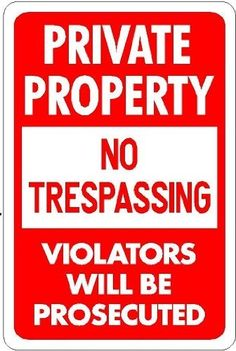 "PRIVATE PROPERTY NO TRESPASSING 12x8 Plastic Sign . $6.95. UV Protected Ink. Durable .060"" Styrene Plastic. 4 Mounting Holes, Rounded Corners. Best prices guaranteed!. Also available in Aluminum. Proudly Made in the USA by Alotta Signs!"