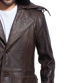 Are you looking for a leather jacket made from the finest quality leather? You should definitely buy Assassins Creed Syndicate Ninja Jacob Frye Brown Leather Trench Coat. Brown Leather Jacket Men, Mens Leather Coats, Lambskin Leather Jacket, Vintage Leather Jacket, Leather Trench Coat, Leather Jackets, Men's Leather, Real Leather, Assassins Creed