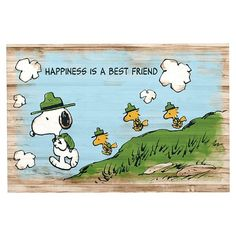 """Peanuts™ """"Happiness is a Best Friend"""" Canvas Art   PBteen"""