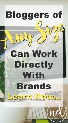 Work with brands no matter your following! A summary of top bloggers' tips to make money with brands without the middle man. via /ndcfullcircle/